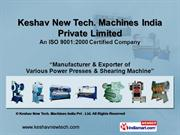 Mechanical Shearing Machine By Keshav New Tech. Machines India Private