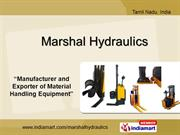 Scissor Lift By Marshal Hydraulics Coimbatore