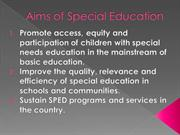 aims of sped