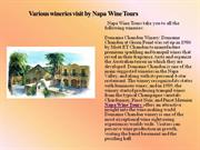various wineries visit by napa wine tours