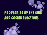 Properties of the sine and cosine functions
