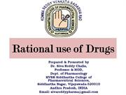 Rational drug use DR SIVA