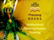 institutional planning process training