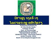 drugs used in lactating mothers