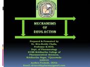 mechanisms of drug action by dr siva