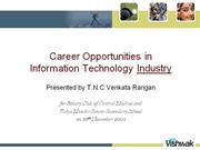 Career Opportunities in Indian IT Industry