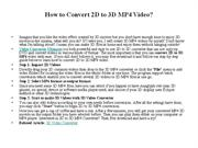 How to Convert 2D to 3D MP4 Video
