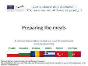 Preparing meals-common