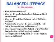 Balanced Literacy powerpoint