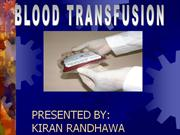 BLOOD TRANSFUSION