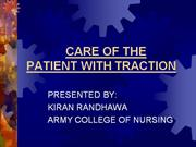 care of patient with traction
