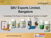 Herbal Oil By Sbv Exports Limited, Bangalore Bengaluru