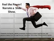 FEEL THE POWER! POWERPOINTS WITH SOUND.
