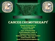 Cancer chemotherpy  by Siva