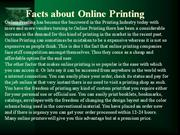 Facts about Online Printing