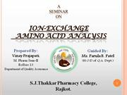 ion exchange amino acid analysis