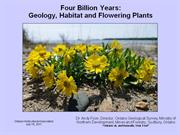Four Billion Years: Geology, Habitat and Flowering Plants