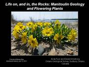 Life on and in the Rocks: Manitoulin Geology and Flowering Plants