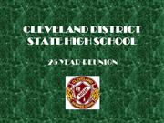 cleveland high class of 83/85 reunion