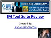 (* IM TOOL SUITE *) Im Tool Suite Review