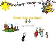 Check List for Spain