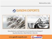 Stainless Steel Stock Pots by Gandhi Exports Mumbai