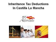 Inheritance Tax Deductions Castilla La Mancha