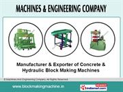 Concrete Block Making Machine By Machines And Engineering Company
