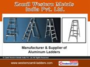 Folding Extension Ladders. By Zamil Western Metals India Pvt. Ltd