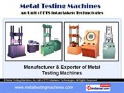 Standard Testing Machine. By Metal Testing Machines, An Unit Of Ets