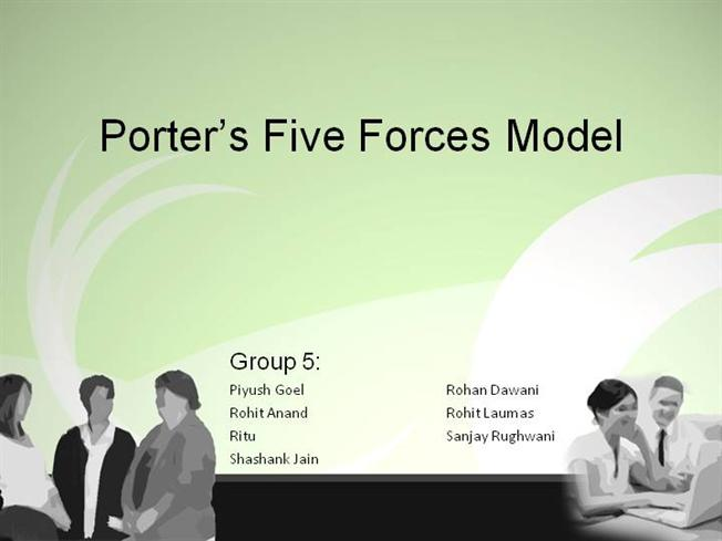 porter's five forces model |authorstream, Powerpoint templates