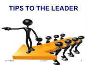 Tips to the christian leader