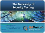 the necessity of security testing