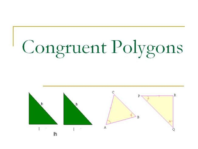 Congruent Polygons Authorstream
