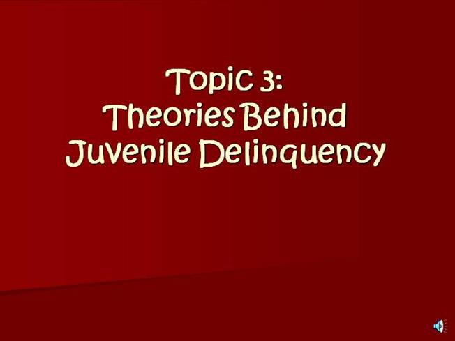 juvenile delinquency classical theory