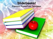 FOOD BOOKS AND APPLE FOOD PPT TEMPLATE