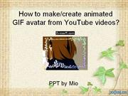 How to make gif avatar from youtube video