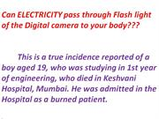 Electricity pass thro digital camera