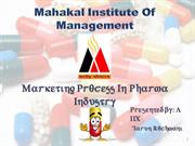 Marketing Process In Pharma Industry Final
