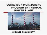 CONDITION MONITORING PROGRAM  IN THERMAL POWER PLANT