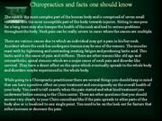 Chiropractics and facts one should know