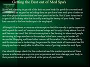 Getting the Best out of Med Spa's