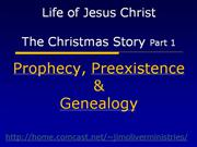 Prophecy Preexistence Genealogy / Christ