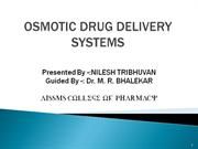 OSMOTIC DRUG DELIVERY SYSTEMS 3