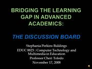 Bridging the Gap in Advanced Academics