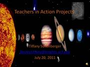 Teachers in Action Projects