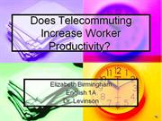 Does Telecommuting Increase Worker Productivity PowerPoint