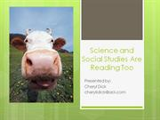 Science and Social Studies are Reading Too