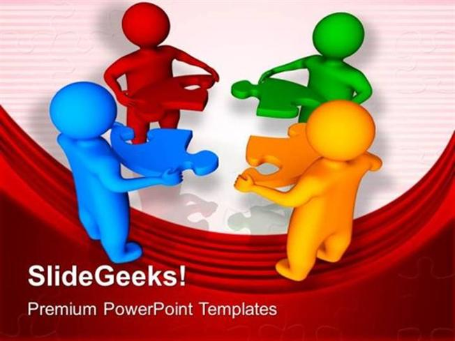 Teamwork 3d men with jigsaw puzzle pieces business ppt template related powerpoint templates toneelgroepblik Choice Image