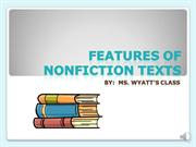 Features of Nonfiction Texts - power point
